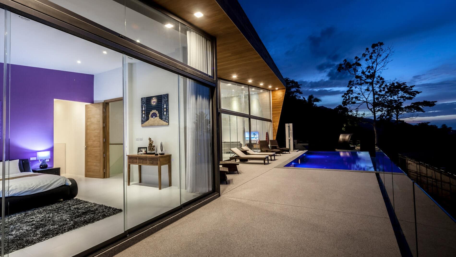 Glasschiebewand für modernes Wohnen
