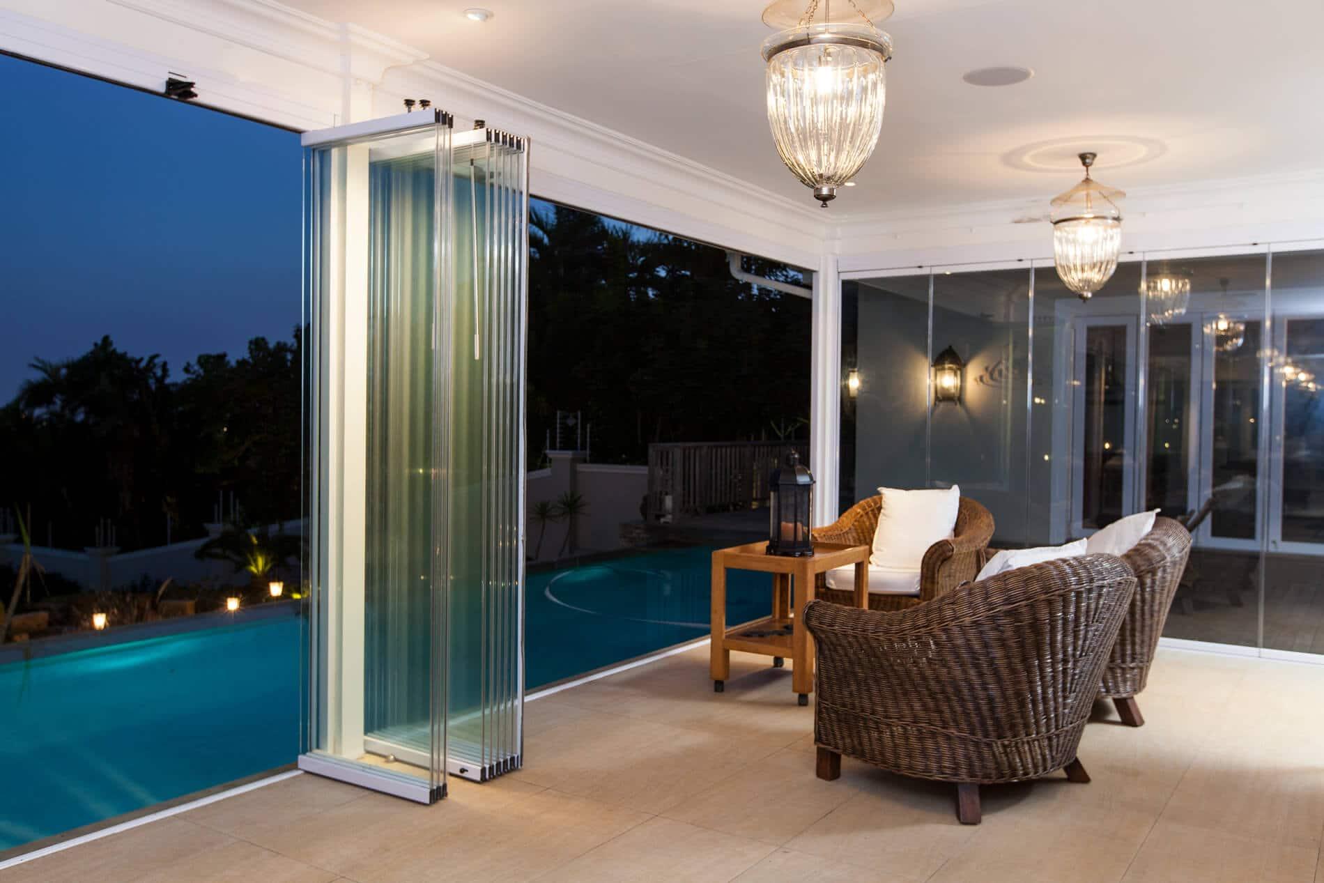 Glasschiebewand für Terrasse Sunflex