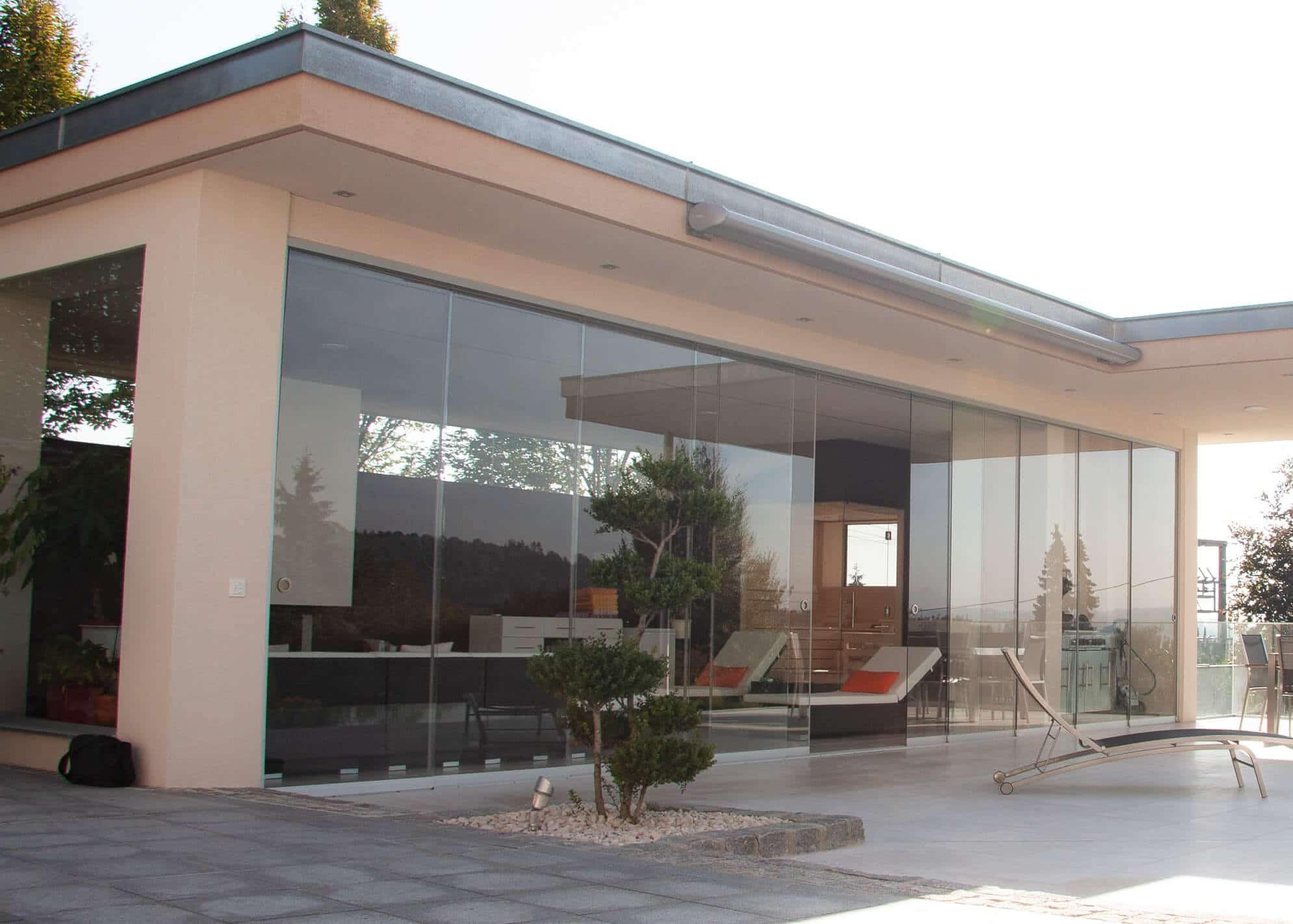 Glasschiebewand Terrasse Ideen