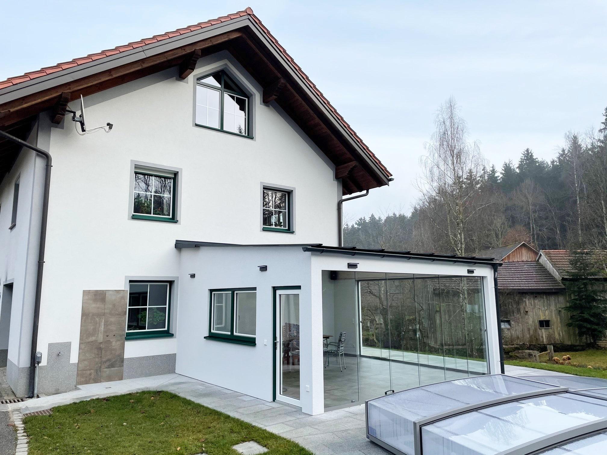 Glasschiebewand Terrasse nach Maß