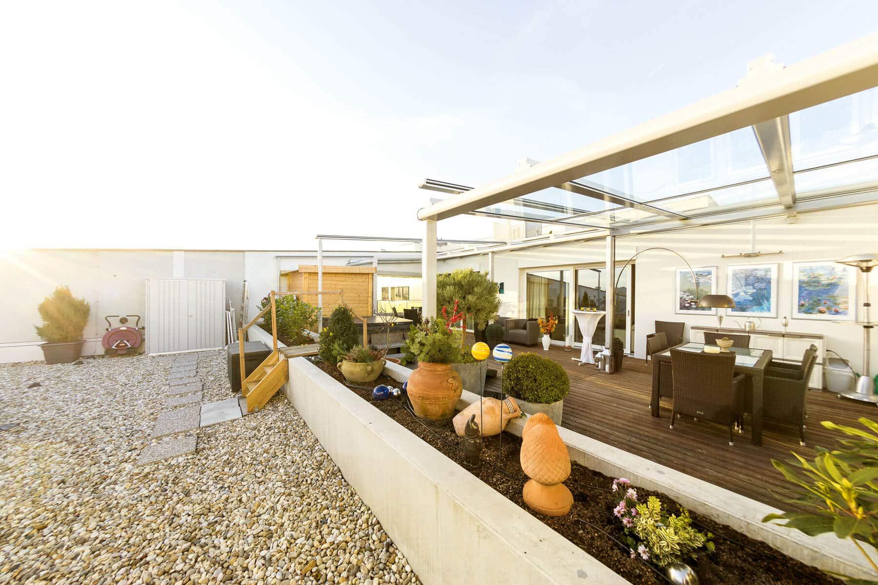Glasüberdachung für Dachterrasse