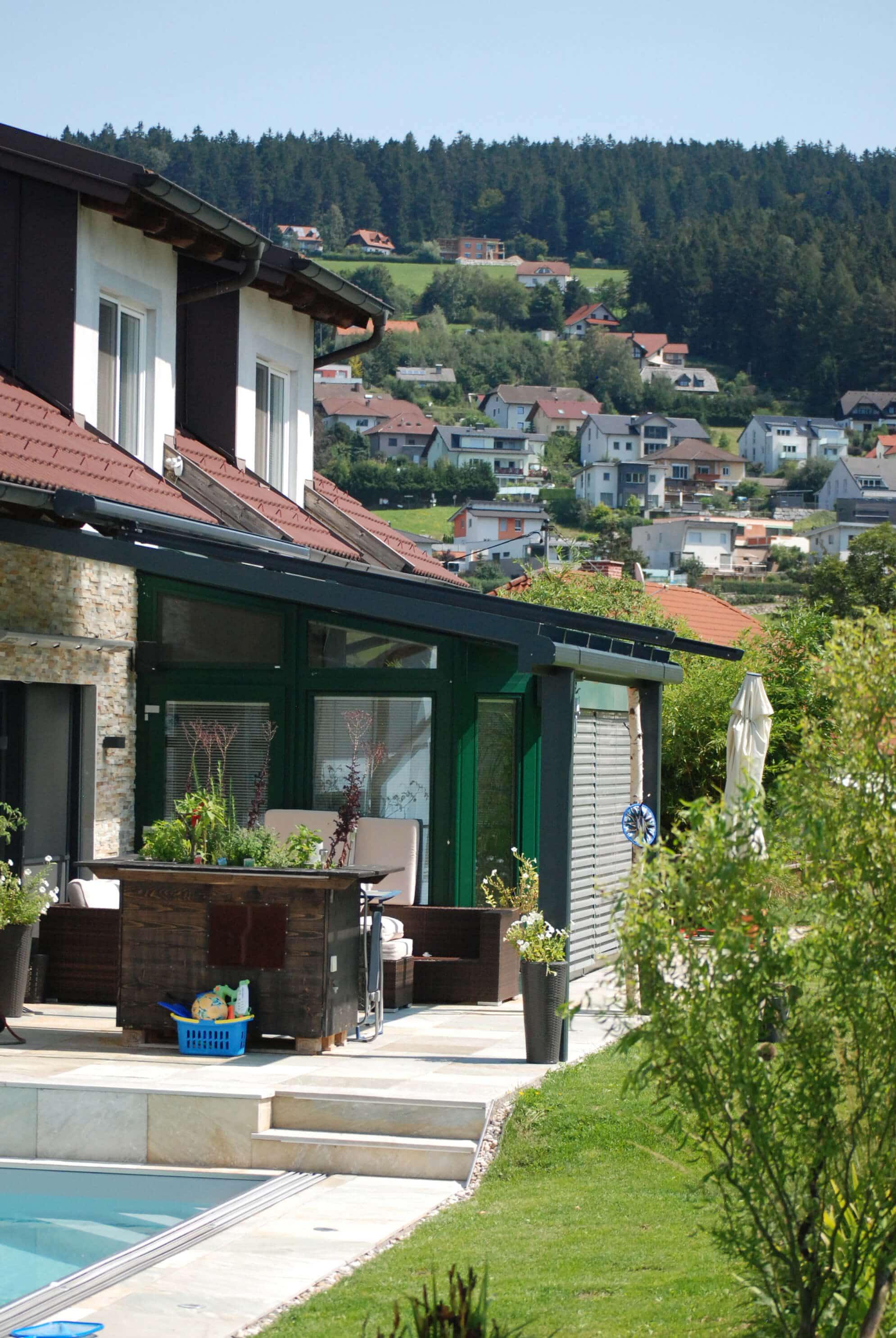 Glasüberdachung Terrasse Alu