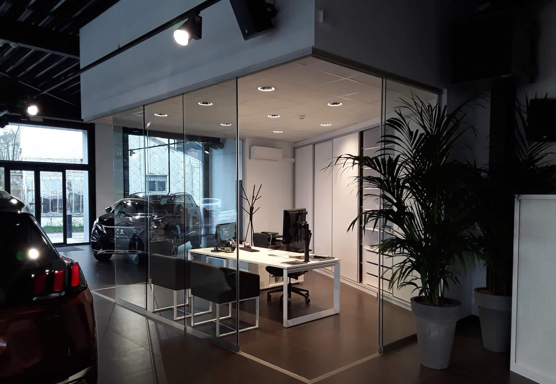 Glasverbau Innenbereich