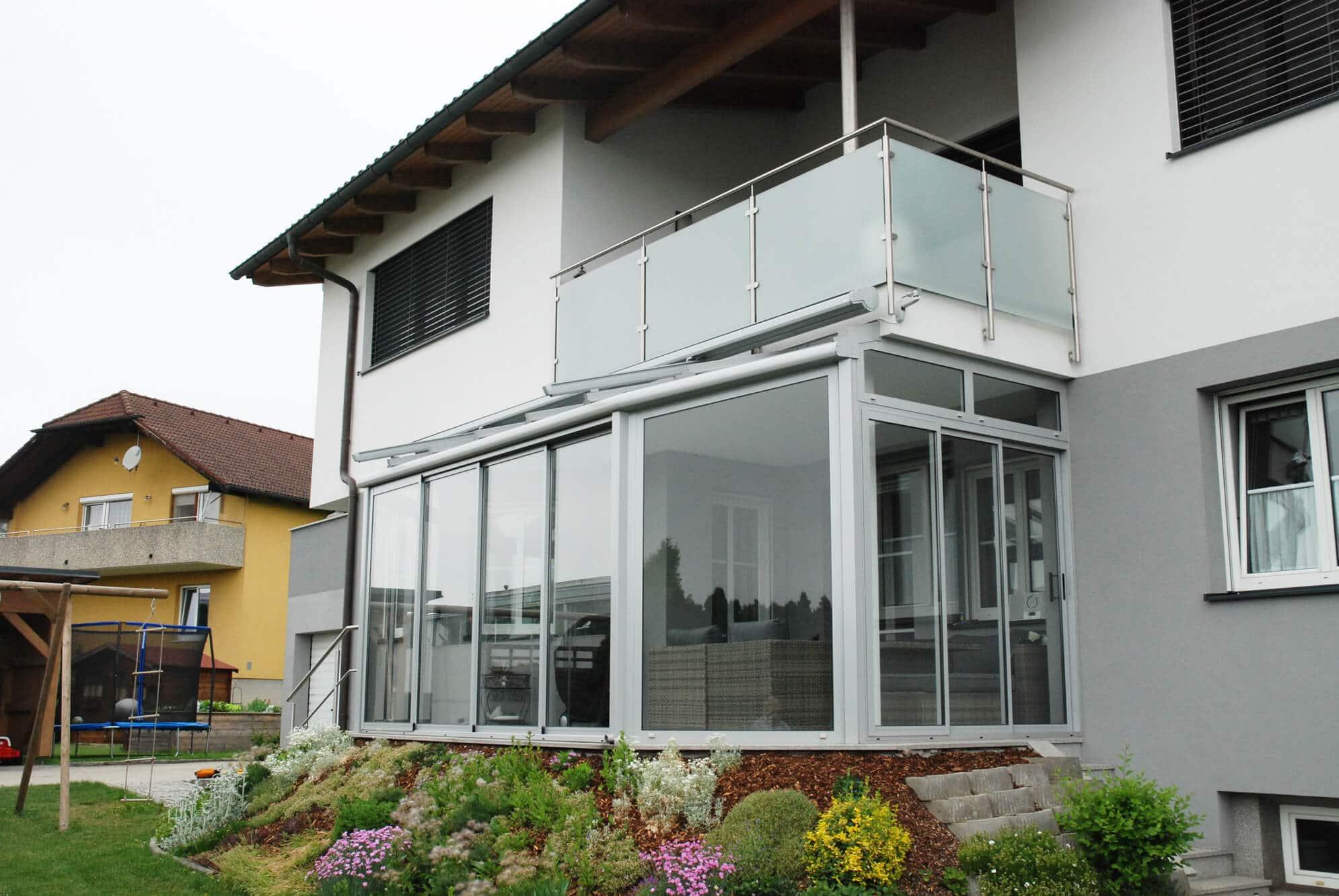 Glasverbau mit Schiebesystemen