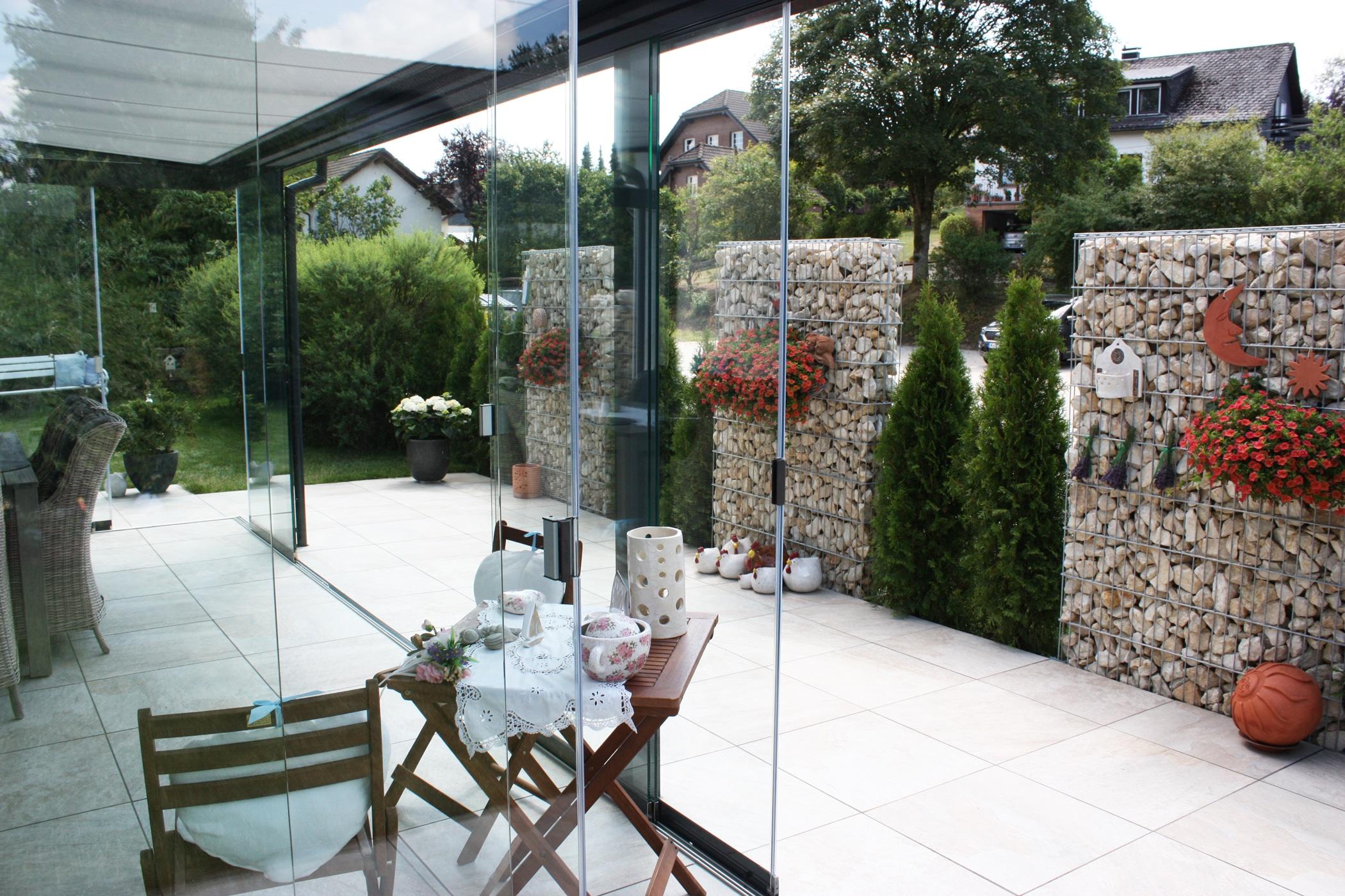 Glasverkleidung Terrasse