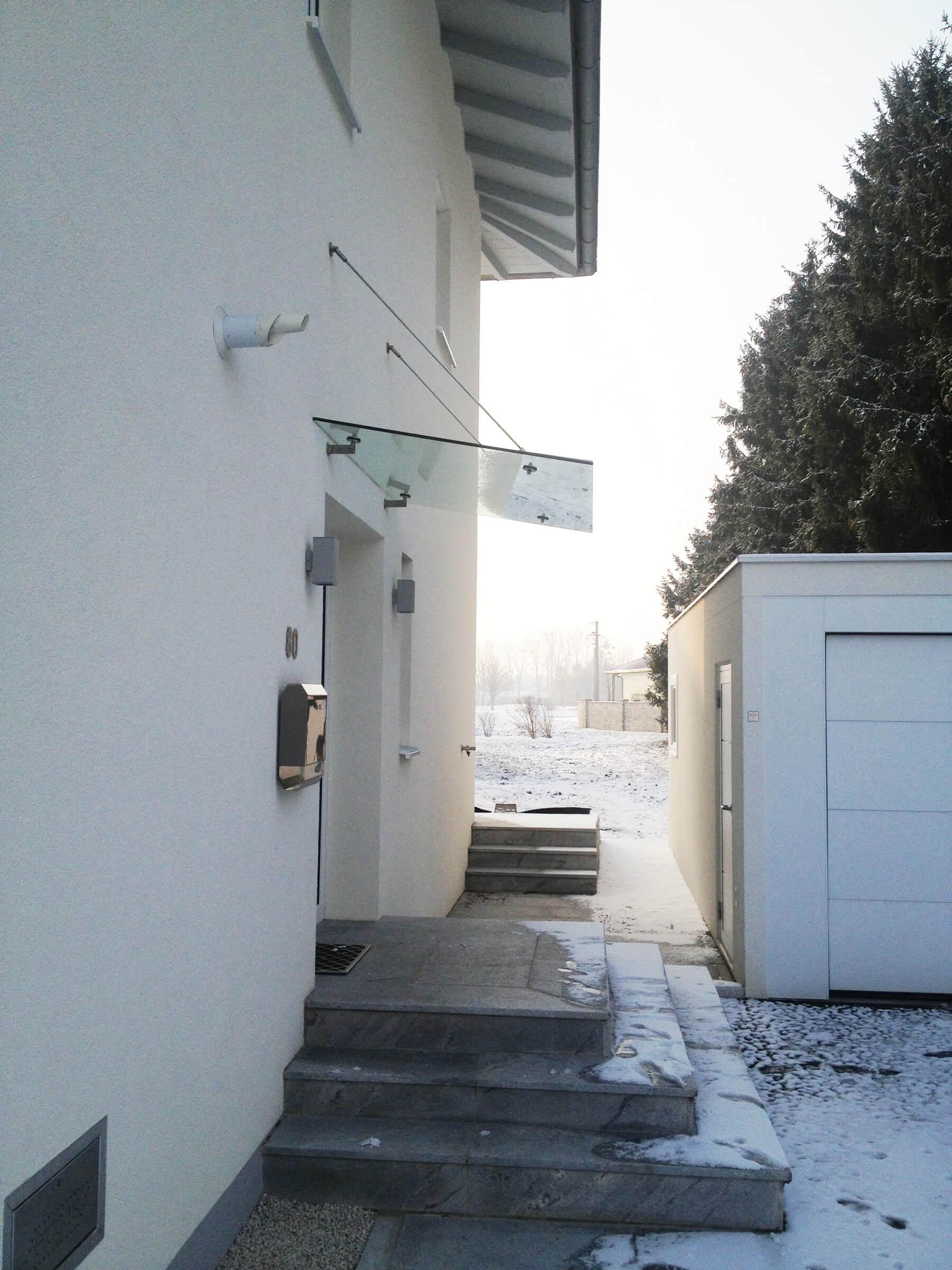 Glasvordach für Haustüre