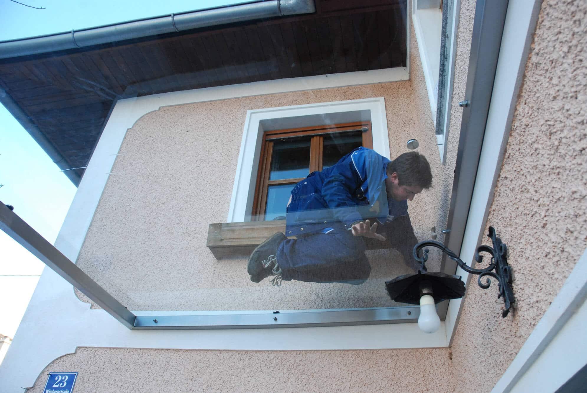 Glasvordach Hauseingang