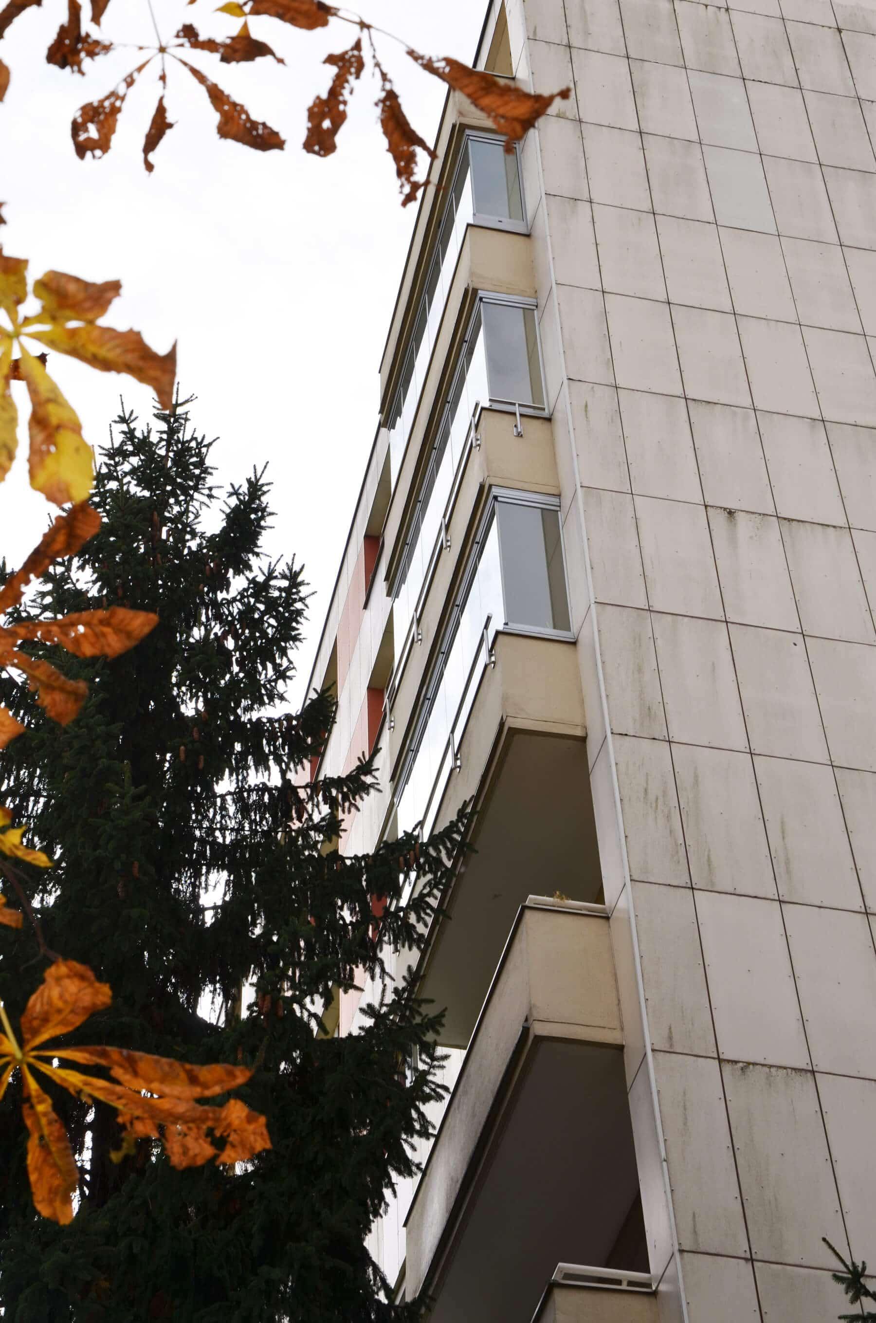 Glaswand für Balkon