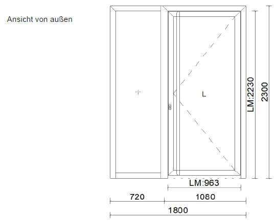 Haustür mit Seitenteil Aluminium