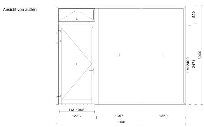 Haustüren mit Seitenteil Planung
