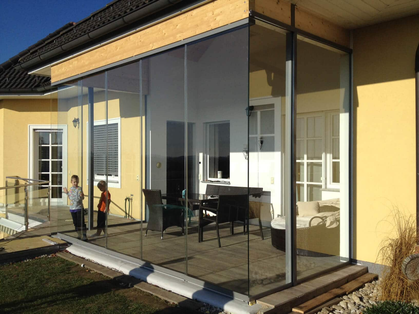 Hohe Schiebetüren aus Glas - Sunflex SF 20