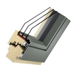 Holz Alu Fenster Basic Flat