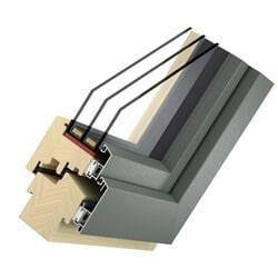 Holz Alu Fenster Basic Solid