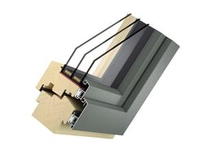 Holz-Aluminium-Fenster Modell Big - Typ Solid