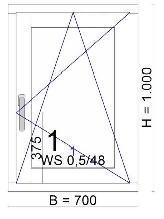 holz-Alu-Fenster kantig - kiefer - außen in anthrazit