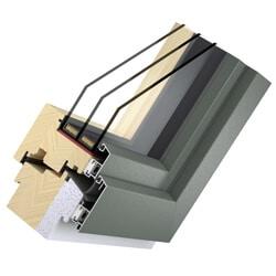 Holz Alu Fenster - Passivhaus System Solid - flächenversetzt