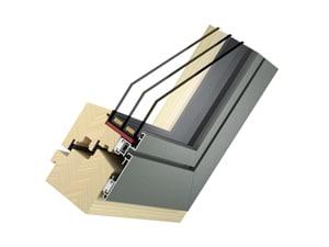 Holz-Aluminium-Fenster Modell Plan - Typ Slim