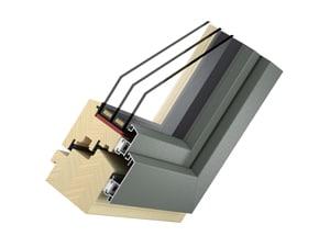 Holz-Alu-Fenster Modell Plan - Typ Solid