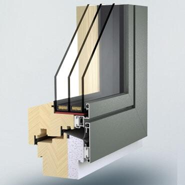 Holz-Alu-Fenster planflächig Österreich
