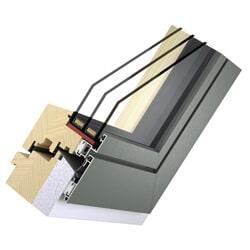 Holz Alu Fenster - planflächig innen und außen - Passivhaustauglich Slim