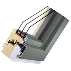 Holz Alu Fenster planflächig innen - Passivhaustauglich System Sollid