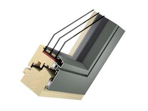 Holz-Alu-Fenster Modell Plan - Typ Flat