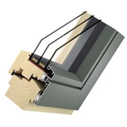 Holz Aluminium Fenster Big System Flat - 3-fach