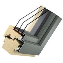 Holz-Aluminium Fenster BIG Solid - 3-fach Glas