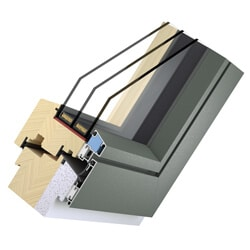 Holz Aluminium Passivhausfenster Design Flat