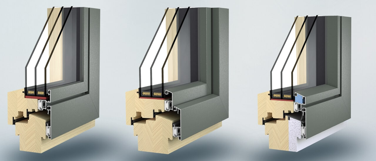 Holzalu-Fenster Waku