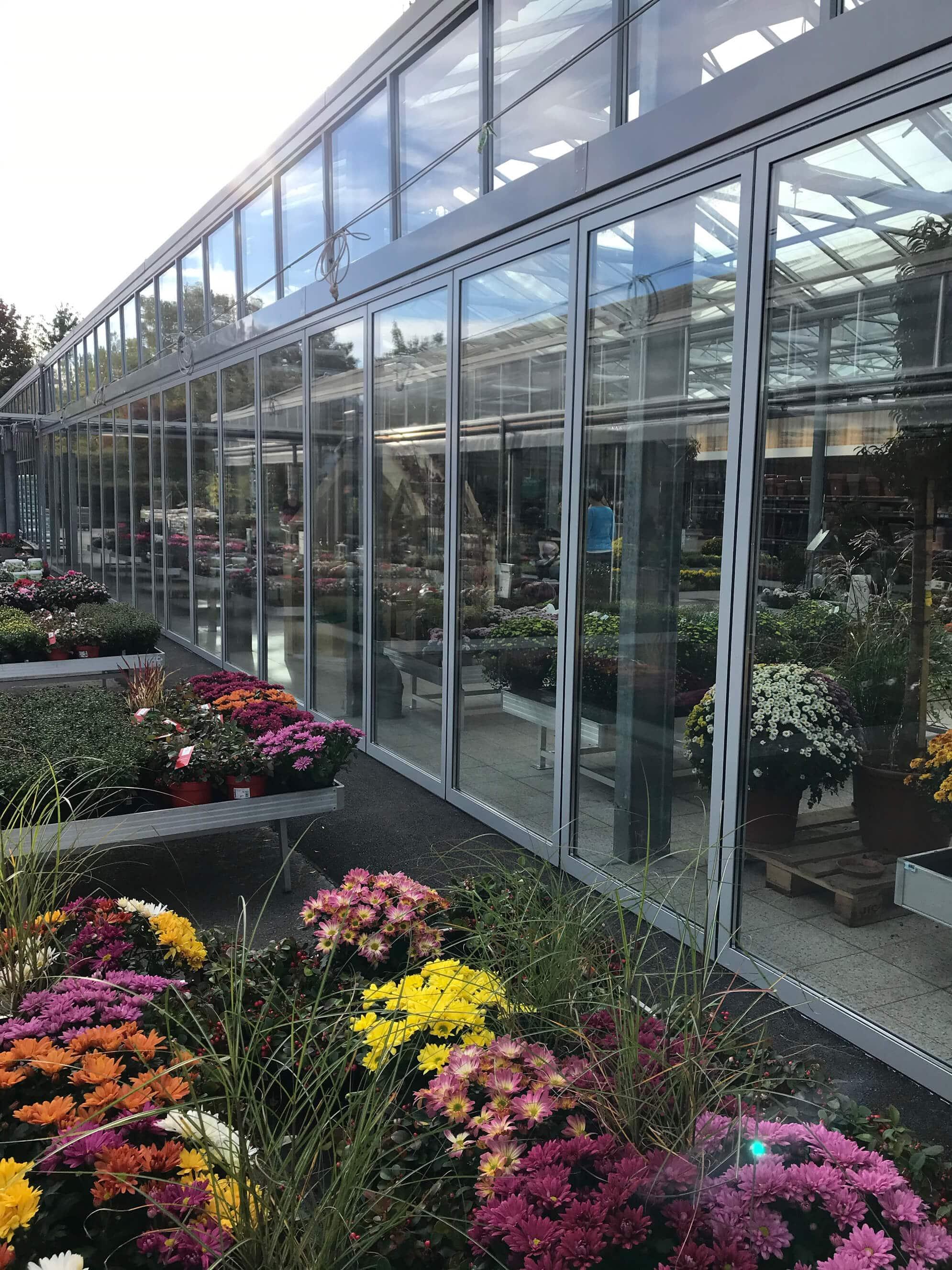 Horizontal-Schiebesystem für Gewächshaus Gartencenter