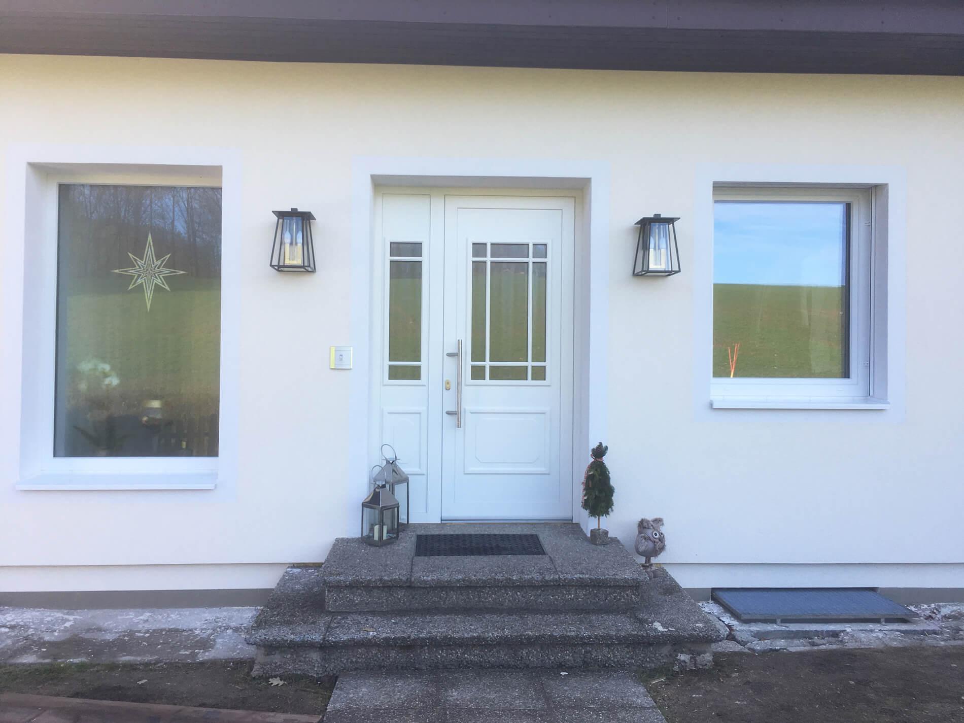 Kunststofffenster und Alu-Türe für Altbau