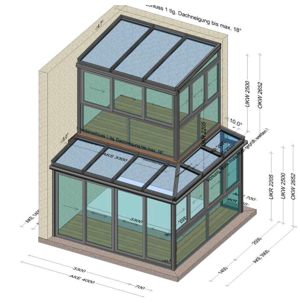 Mehrstöckige Wintergärten Planung