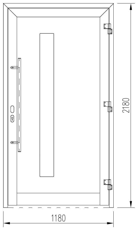 Moderne Aluminium Türen Glasausschnitt