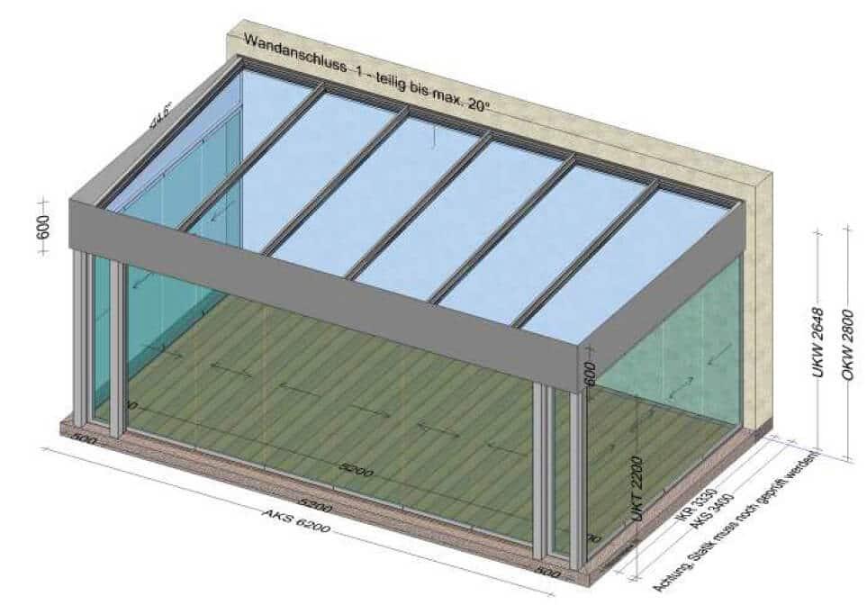 Moderner Sommergarten Aluminium