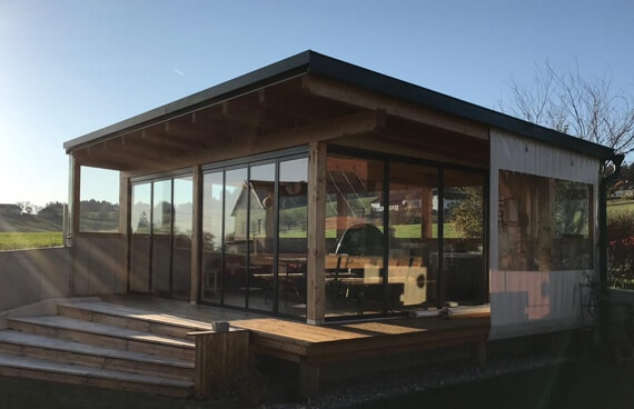 Modernes Gartenhaus Pultdach