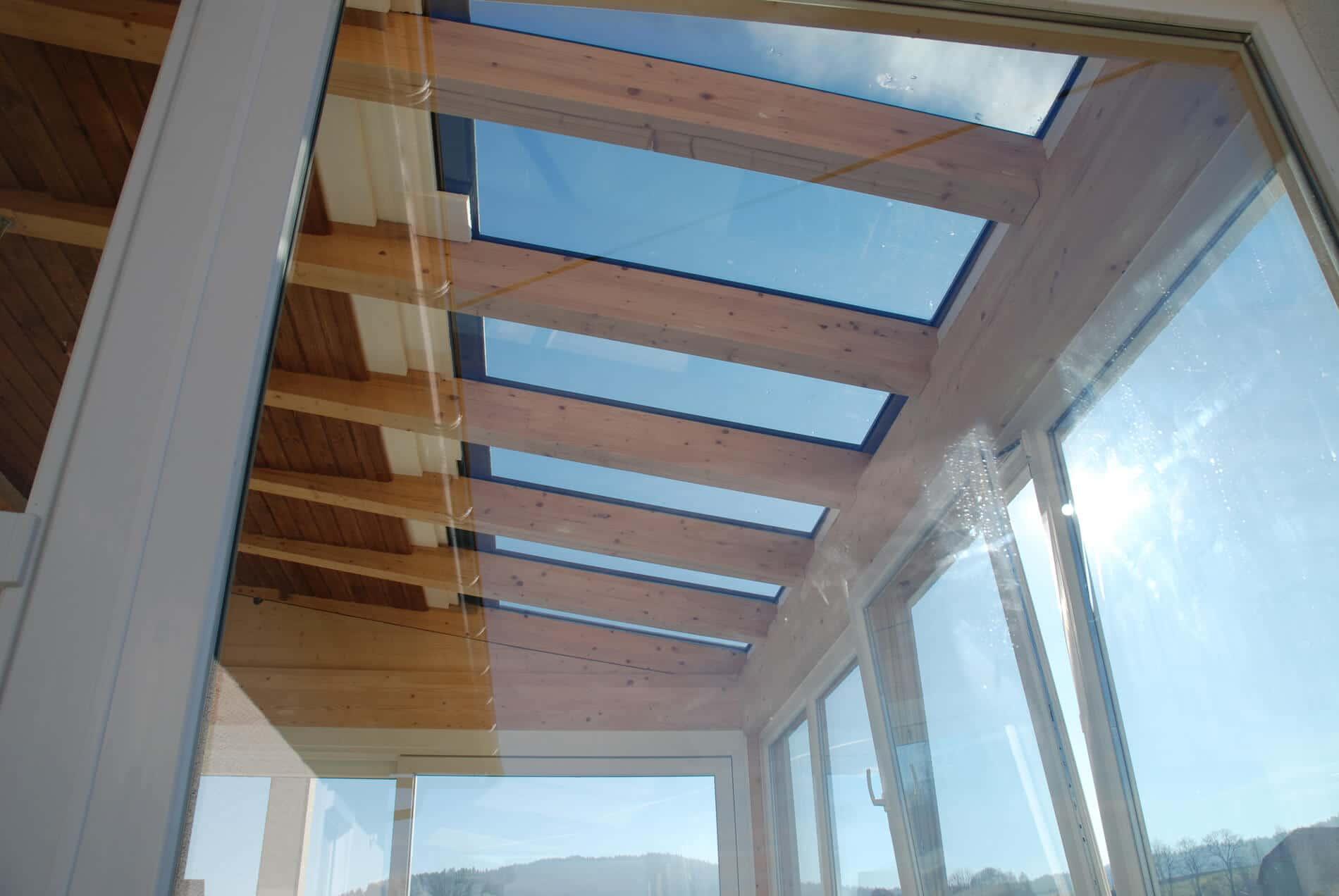Montage Dachverglasung für Wintergarten