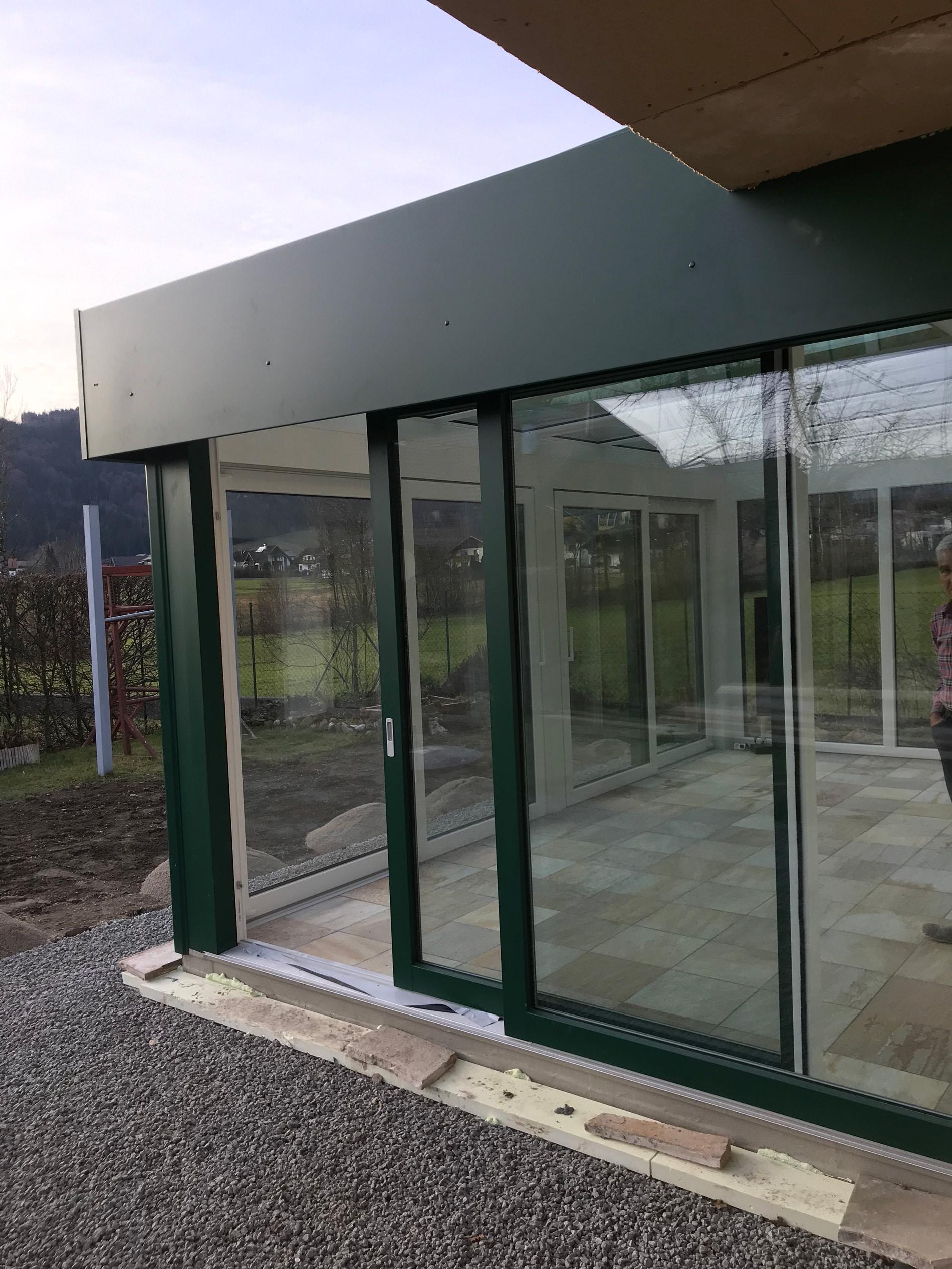 Neuen Wintergarten am Mondsee in Oberösterreich errichtet
