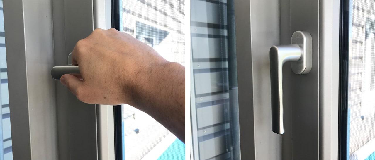 Neuer Fenstergriff montiert
