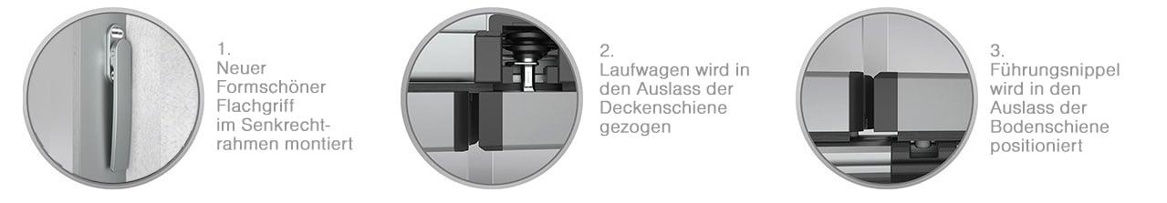 Sunflex Schiebe-Dreh-Systemen