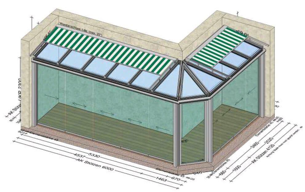 Nurglas Schiebesystem für Sommergarten