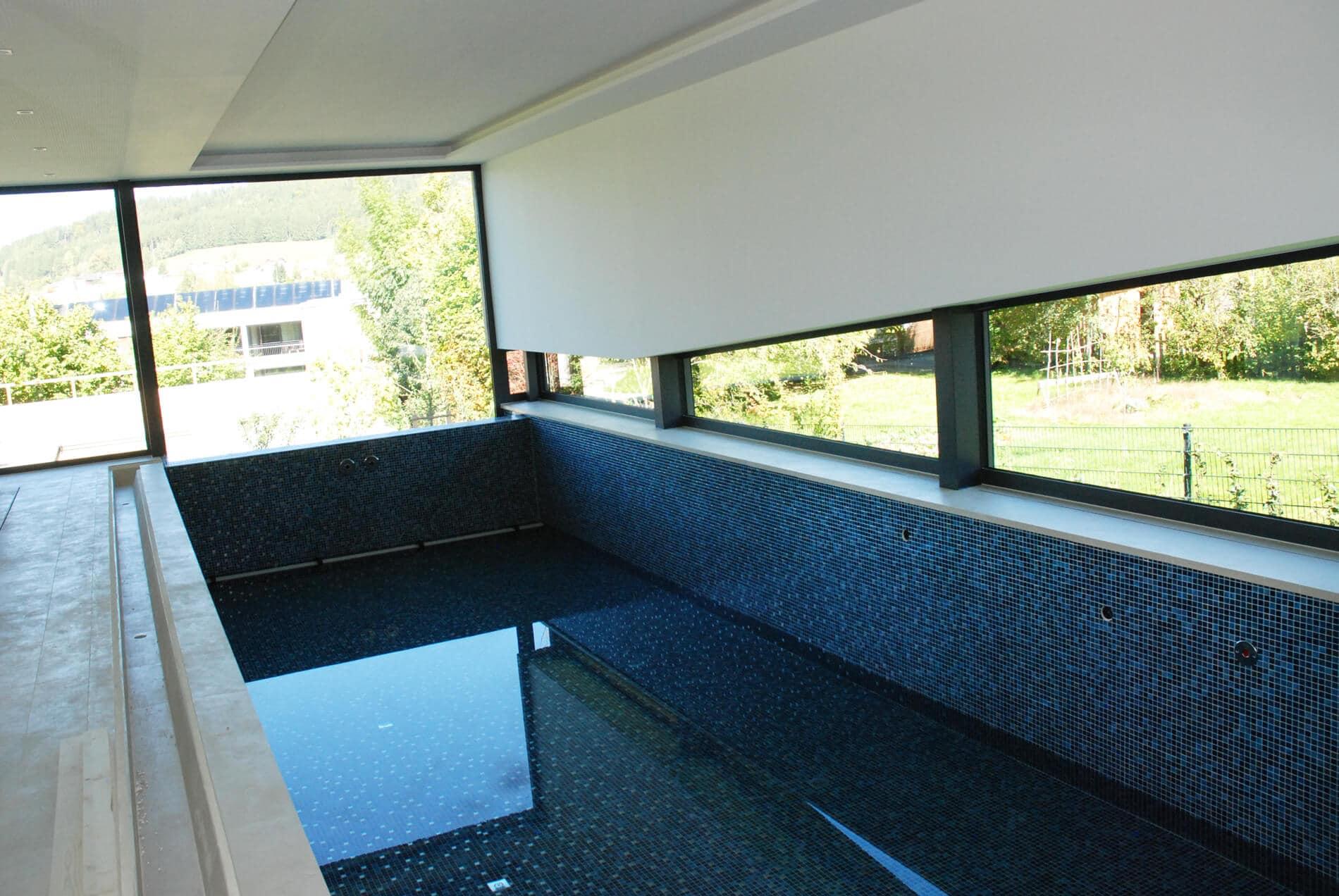 Panoramafenster für Wellnessoase