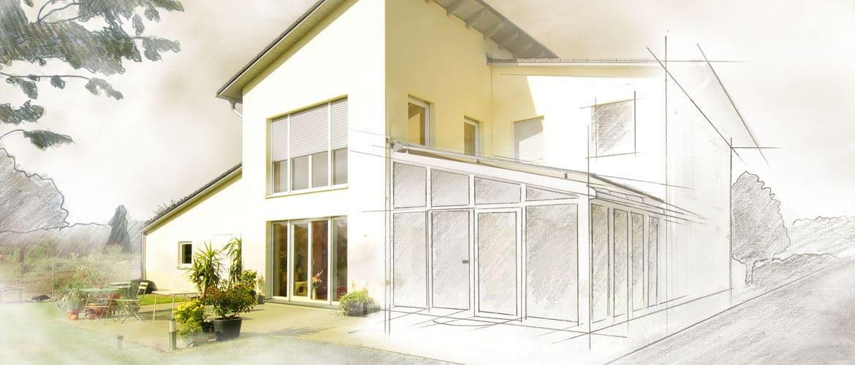 Planung Wohnraumerweiterung in Oberösterreich