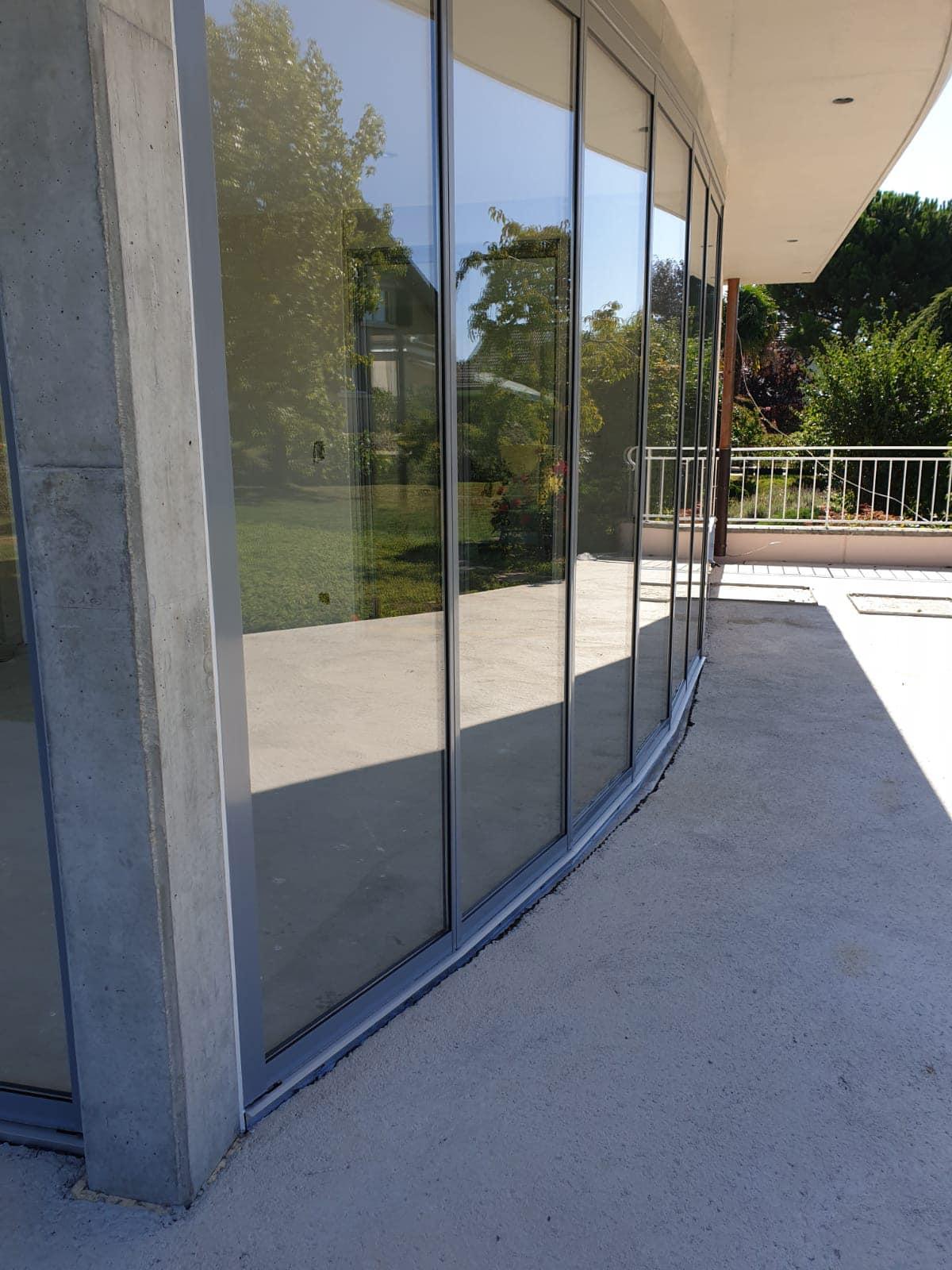 Schiebe-Dreh-Elemente mit Rahmen für Außenbereich