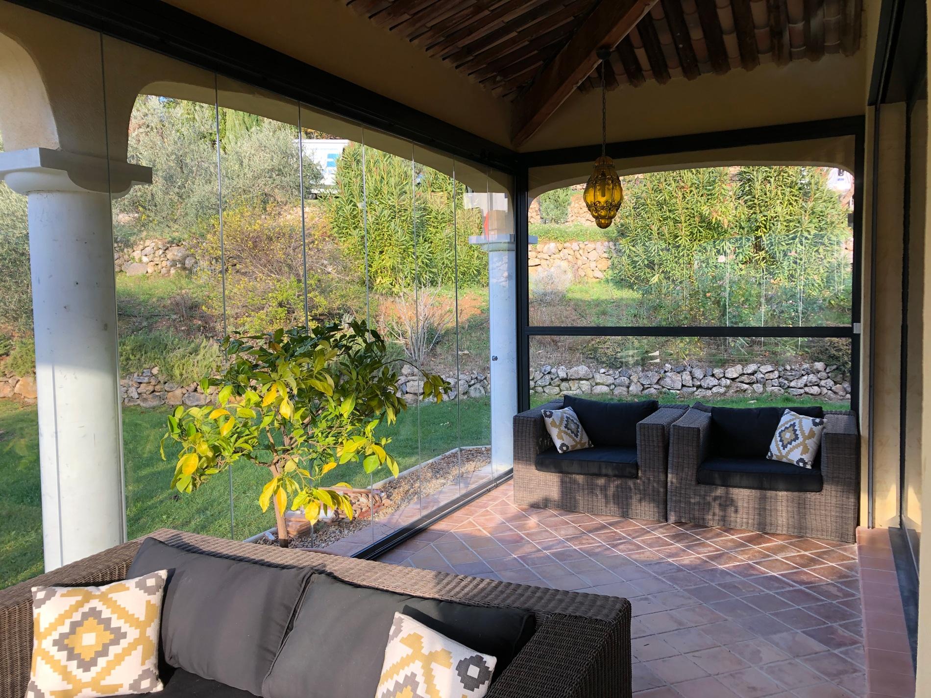 Schiebe-Dreh-Elemente Terrasse