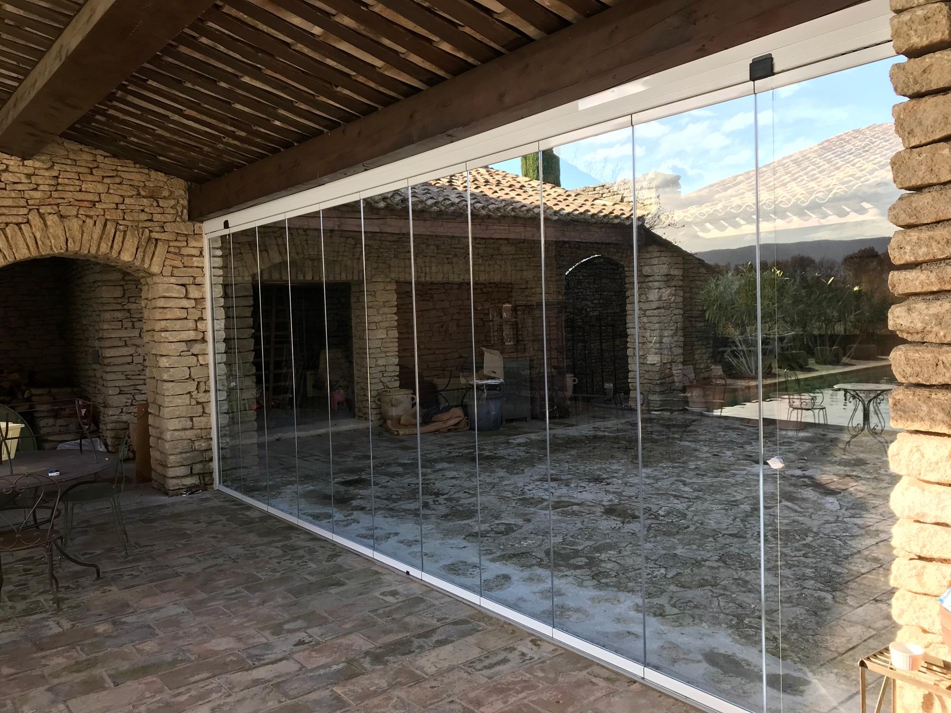 Schiebe Dreh Glaswand