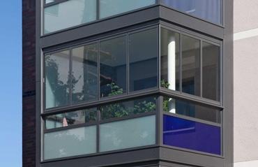 Schiebe-Dreh Schallschutzverglasung Balkon