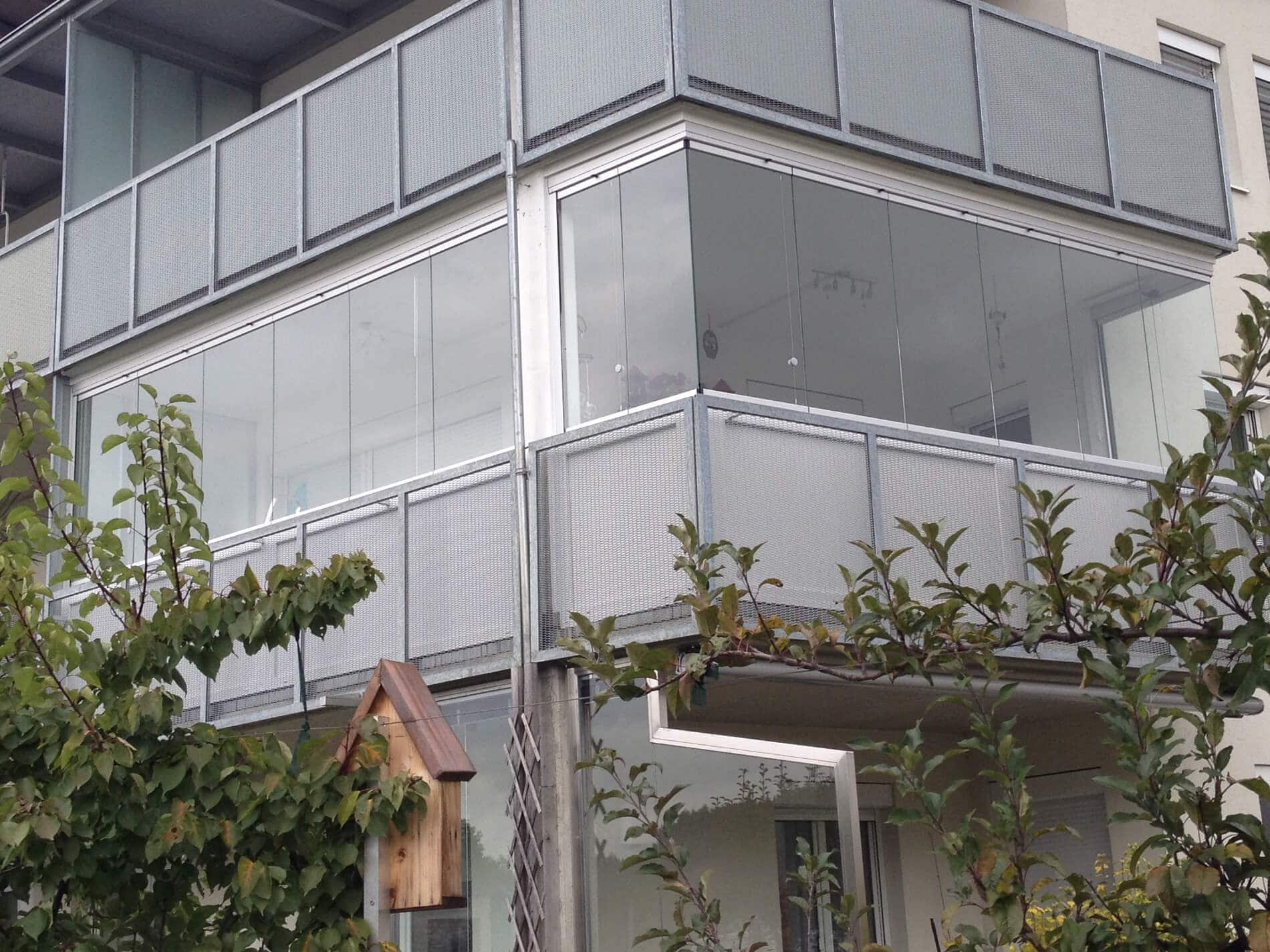 Schiebe Falt Fenster - Balkonverglasung