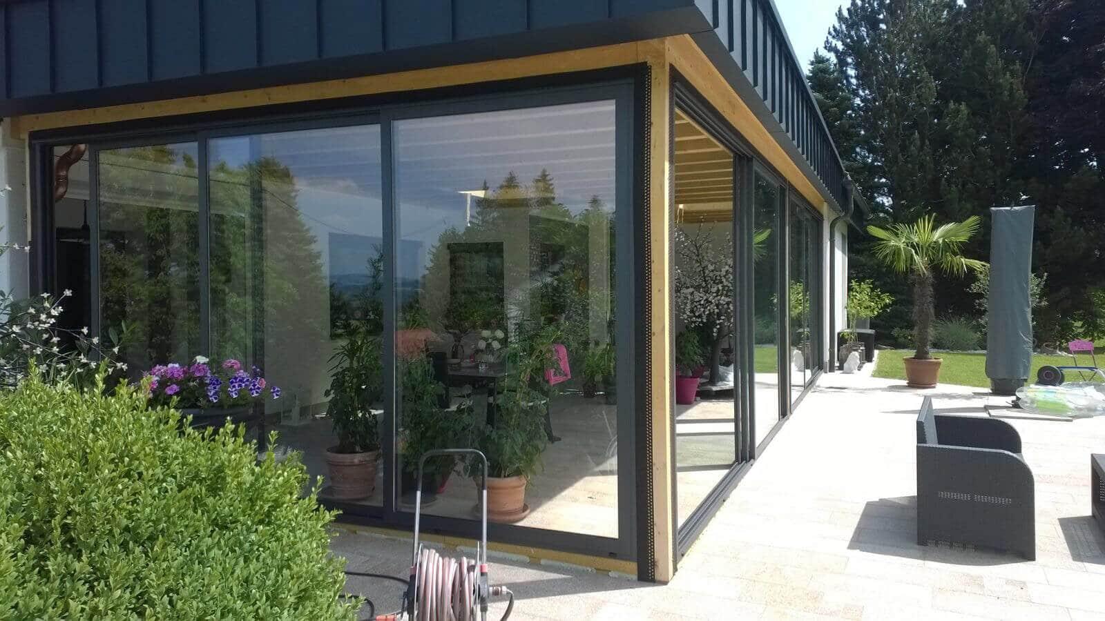 Schiebeelemente für Terrassenverbau