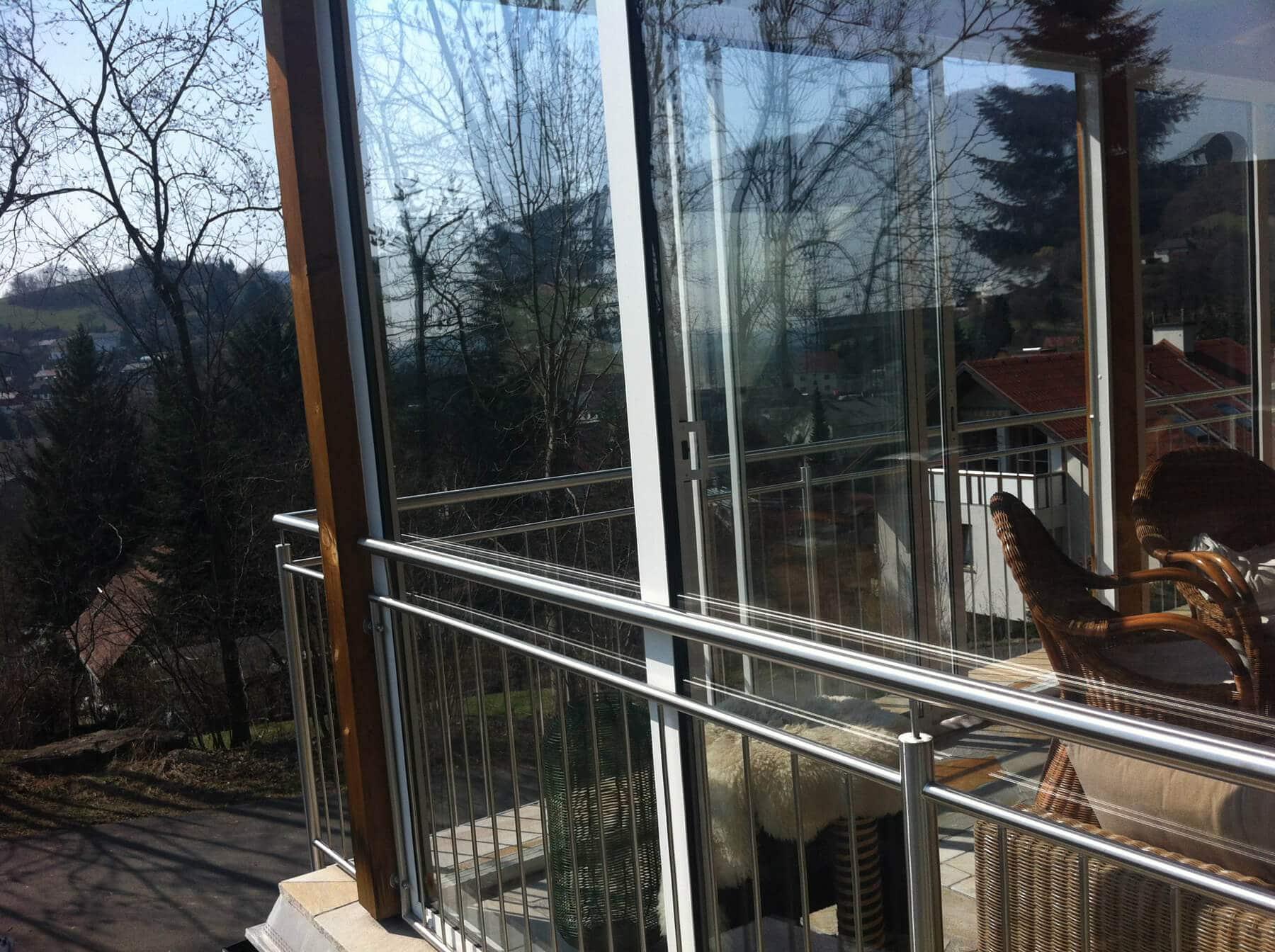 Schiebefenster Alu Profil und Glas